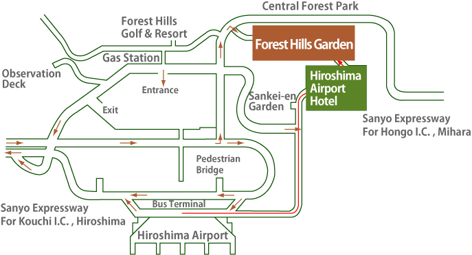 Transportation and Area GuideHiroshima Airport HotelForest Hills